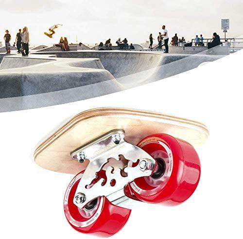 LHLYL-DP Mini Drift Board portátil, Arce de 7 Capas, Camino de Rodillos con 2 Ruedas, patinetas de aleación con Estructura de Acero, para Principiantes y Profesionales,Rojo