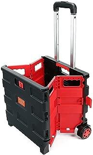 25kg Folding Shopping Trolley Storage Boot Cart Box