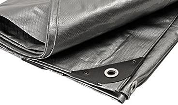 Canopies and Tarps Premium Silver Heavy Duty Poly Tarp, 12' x 18' - Waterproof 100% UV Protected, Full Shade Tarpaulin