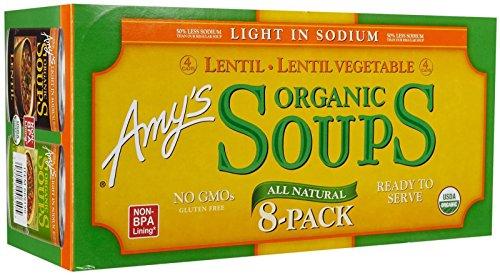 Amy's Organic Lentil Veggie Soup, 14.5 Ounce (8 count)