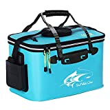 Grneric Fishing Bucket, 6Gallon/8Gallon/10Gallon Foldable Fish Bucket,Live Fish Container Multi,Functional Fish Live Bait Bucket,Outdoor Camping EVA Fishing Bag and Fish Protection Bucket