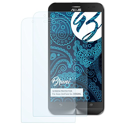 Bruni Schutzfolie kompatibel mit Asus ZenFone Go ZB552KL Folie, glasklare Bildschirmschutzfolie (2X)
