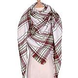 HUAHUA bufandas Caliente del otoño y del invierno bufandas, Pañuelo-mantón de la bufanda del babero del mantón Capa plaza bufanda caliente rayada tela escocesa imitación bufanda de la cachemira de las