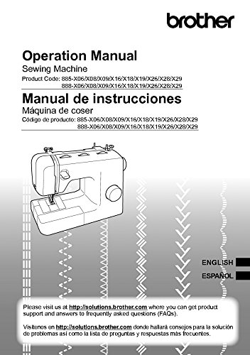 Brother XM3700 Sewing Machine Owners Instruction Manual [Plastic Comb] There and Back