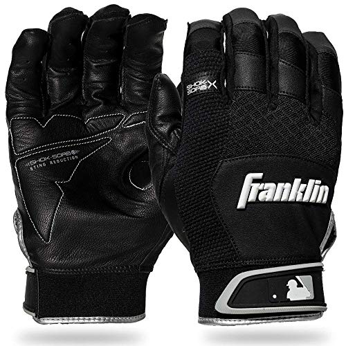 Franklin Sports Quad Flex The Natural II Baseball Softball Batting Gloves Med XL