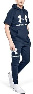Under Armour Men's Rival Fleece Sportstyle Logo Jogger Pants, Blue (Academy/White), Medium