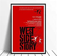 Original West Side Story Classic Movie Vintage Poster Canvas Painting Wall Art Living Room Decor Photo Canvas 50x70cm Unframed