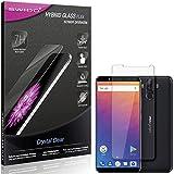 SWIDO Panzerglas Schutzfolie kompatibel mit Ulefone Power 3 Bildschirmschutz-Folie & Glas = biegsames HYBRIDGLAS, splitterfrei, Anti-Fingerprint KLAR - HD-Clear