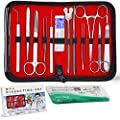 20 Pcs Advanced Biology Dissecting Dissection Kit Set with Scalpel Knife Handle Blades, 1 Free 3/0 Suture for Medical Students, Laboratory, Anatomy, Veterinary