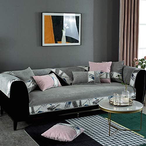 Suuki Funda Protectora para sofá,Funda de sofá Impermeable para Perro/Gatito,Funda de sofá de pañal para Mascota/niño,Protector de sofá,sofá Decorativo de Moda-Gris_Los 70 * 70cm