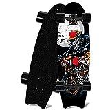 Skateboard,Mini Cruiser,72x21.5 cm,8 Capas Madera de Arce,Completo Patineta,Patinete Retro,Longboard,Tabla de Skateboard,para Adolescentes Principiantes Niñas Niños Adultos