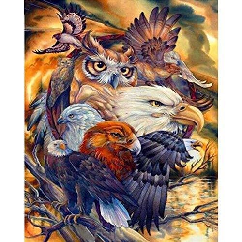 Yingxin34 Puzle de 2000 Piezas Puzle de Varios águilas y pájaros Puzle de 2000 Piezas 100x70cm
