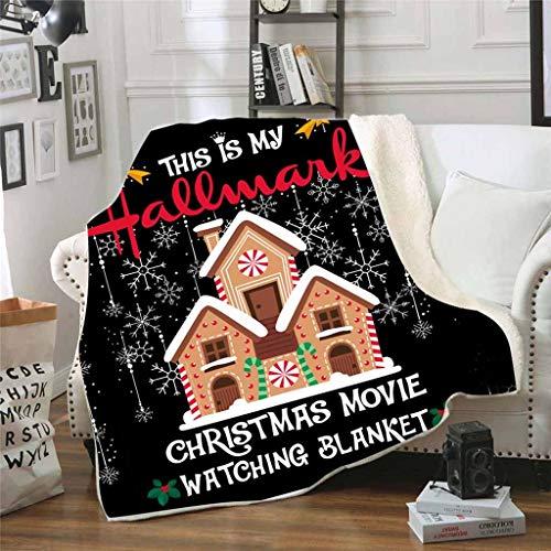 Smony - Christmas Manta de Forro Polar Supersuave con diseño de Papá Noel y Papá Noel, Manta de Franela para...