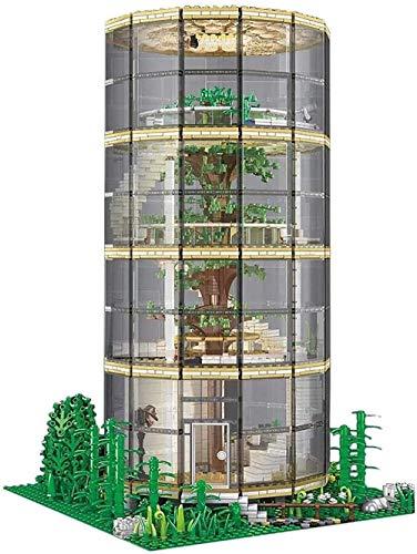 Juego de Edificios de Juguete, Kit de Bloques de construcción de Casas de árbol Transparente con iluminación, 3495 PCS Nano Mini Mini Bloques de construcción Kits, Kid DIY Regalos Trabajar