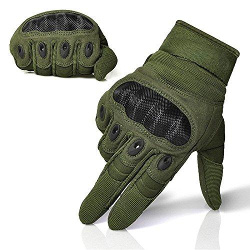 Limirror Herren Taktische Handschuhe Handschuhe Fahrradhandschuhe Motorrad Handschuhe outdoor sport Handschuhe Fitness Handschuhe Army Gloves Ideal für Airsoft, Militär, Paintball, Airsoft, Jag (Grün, L) - 6