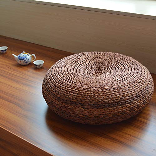 QXX Japanese Style Straw Futon Cushion Thickening Household Tea Ceremony Tatami Meditation Meditation Mat Floor Mat (Color : C, Size : M)