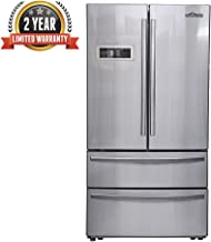 Thor Kitchen 36inch Stainless Steel Refrigerator with 5.69 cu.ft Ice Maker Freezer and 15.16 cu.ft Fridge - Counter Depth French Door - 2 Years of Warranty