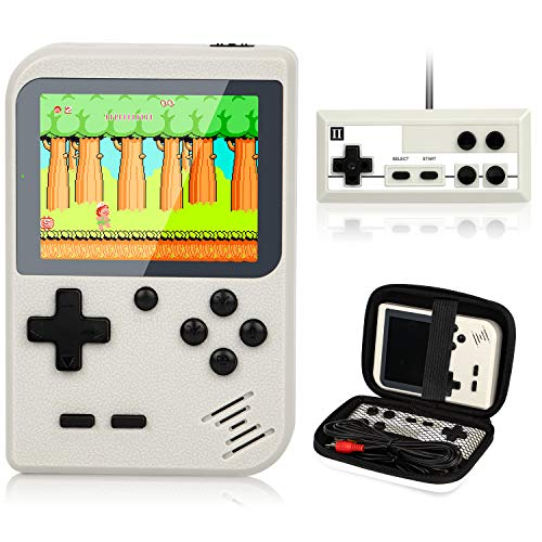 Video Game Console, Handheld Video Games with 400 FC Games 3.0 Inch Screen 800Mah Rechargeable Battery Portable Game Boy Support TV & 2 Players with Protector Case for Kids Adult