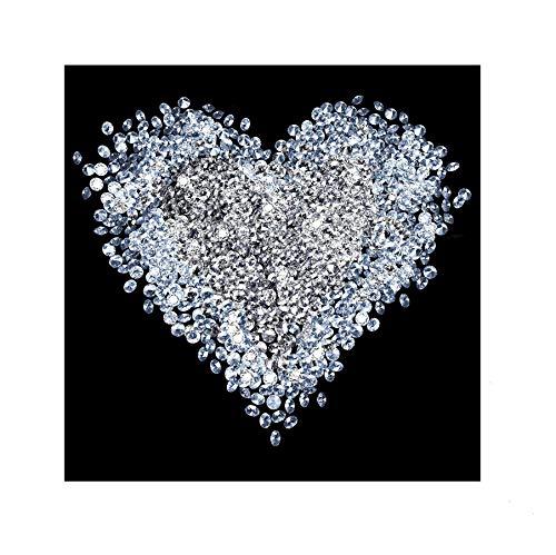 Apalis Vliestapete Diamant Herz Fototapete Quadrat | Vlies Tapete Wandtapete Wandbild Foto 3D Fototapete für Schlafzimmer Wohnzimmer Küche | Größe: 240x240 cm, schwarz, 97583