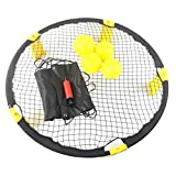 Ahagut Voleibol Spike Battle Ball Kit estándar de 4 Bolas Juego de Juegos al Aire Libre Incluye Red de Juego, 4 Varillas de Soporte, 4 Bolas, inflador y Bolso