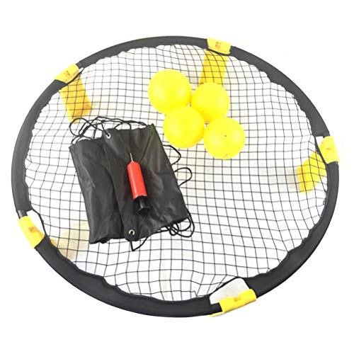 Volleyball Spike Battle Ball Standard 4 Ball Kit, Spike Battle Ball Spielset Bounce Volleyball Spielset Combo Beach Jump Ball Set für Rasen, Garten, Strand, Park