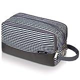 Neceser pequeño nailon Dopp Kit ligero para afeitar, para hombres y mujeres, A Stripes (Azul) - 5031