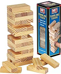 Mini Wooden Tumbling Tower Game Each block measures approx 4.7 x 2 x 1.2 cm For 2 or more players/teams