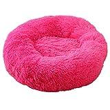BVAGSS Cama de Gato Extra Suave Cómodo Lindo Lavable de la Cama Sleeping Sofa para Mascotas Deluxe para Gatos y Perros XH062 (Diameter:50cm, Rose Red)