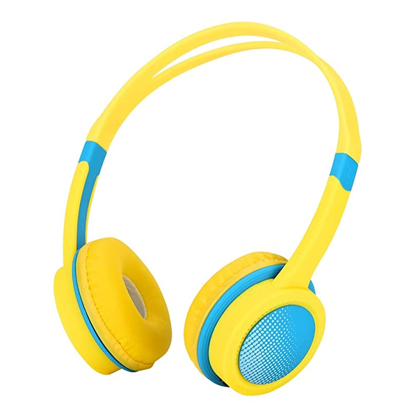 ポルティコ実験的葉巻子供用ヘッドホン 子供のヘッドホン 子供用 bluetooth ヘッドホン 聴覚保護 密閉型 ABS材料製 環境に優しい 軽量 快適 耐久性 4?12歳用に設計された 全5色(イエロー)