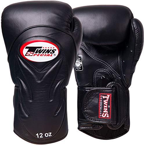 Twins Boxhandschuhe, Premium, BGVL-6, schwarz-schwarz Größe 12 Oz