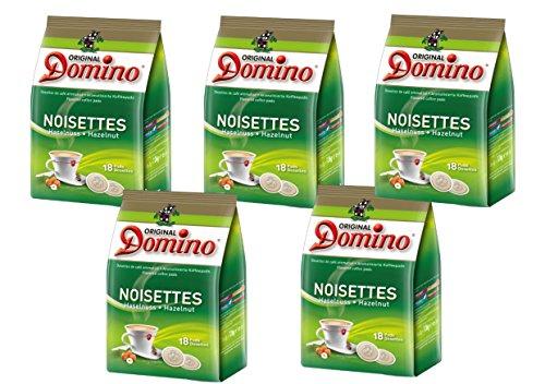 Café noisette DOMINO - pack 5 x 18 dosettes COMPATIBLES SENSEO®