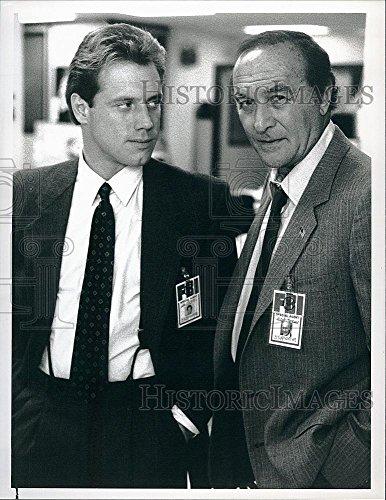 Vintage Photos Historic Images 1989 Press Photo Robert Loggia, Fredric Lehne Mancuso FBI