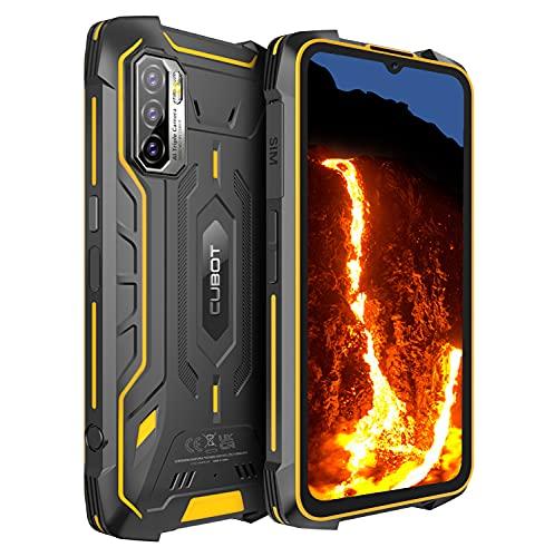CUBOT Kingkong 5 Pro Outdoor Smartphone ohne Vertrag, Android 11, 6,08 Zoll HD Günstig Robustes, 4GB+64GB/256GB Erweiterbar, 8000mAh Akku Dual SIM Handy, IP68 Wasserdicht Stoßfest NFC/Face ID/OTG/GPS