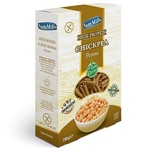 Sam Mills – Chickpea Pasta | Glutenfreie Nudeln aus Kichererbsen | 250 g Packung Penne - Pasta aus Hülsenfrüchten