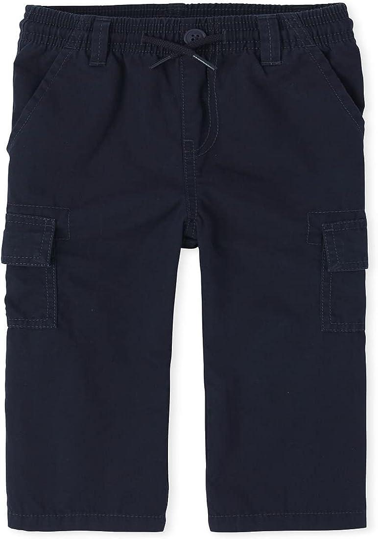 The Children's Place Boys' Uniform Pull On Slim Cargo Pants