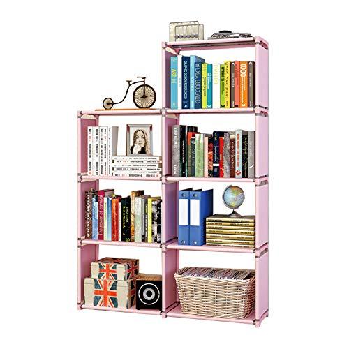 YILANJUN Infantil Libros Librería, Práctico y Duradero, Simple de Combinación Libre, Organizador Estantería para Juguetes para Niños, 4 Colores