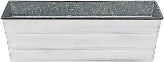 Achla Designs C-20W Galvanized Flower, Medium, Cape Cod White Window Box