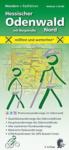 Wandern, Hessischer Odenwald Nord mit Bergstraße: Maßstab 1:30.000; reißfest und wetterfest; Premiumwanderwege im Odenwald; Qualitätswanderwege des ... UTM-Koordinaten für GPS-Nutzer/-innen