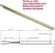 Resistencia bujía estufa de pellets 12,5 mm 350 W 160 mm Clam Edilkamin Mcz Royal Palazzetti Olimpia Splendid