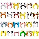 GuassLee 24er Pack aufblasbares Stirnband Niedliches Tier Stirnband Ballon Haarband für Kinder &...