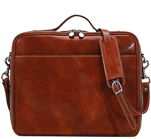 Milano Leather Laptop Case Briefcase Bag