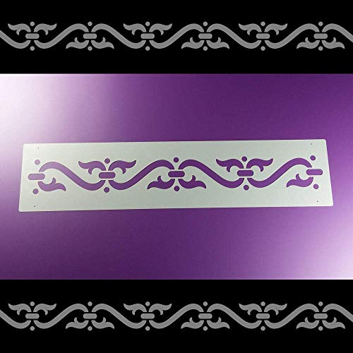 Schablone Bordüre Ornamentband Volutenspange B1B13