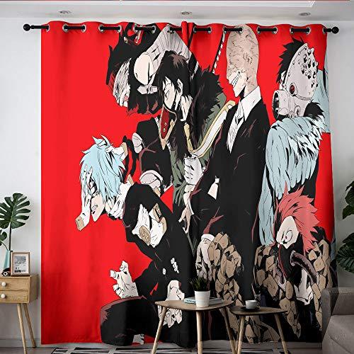 Elliot Dorothy My Hero Academia Cartoon Comic Anime Customized Curtains Backout Curtain Set Window Curtain Drape for Windows Decoration W55 x L63