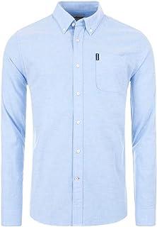 Barbour MSH4802 BL32 Oxford Button Down - Camisa azul Oxford para hombre, corte regular de algodón con bolsillo