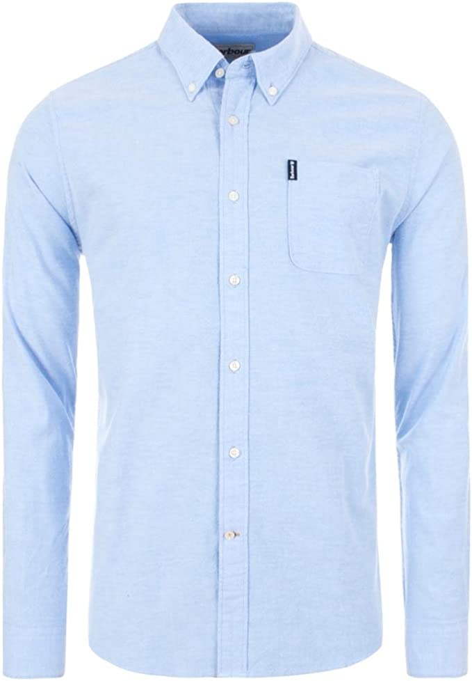 Barbour MSH4802 BL32 Oxford Button Down - Camisa azul Oxford ...