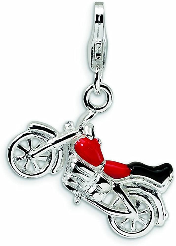 Amore LaVita Minneapolis Mall Sterling Silver 3-D Lobster Cla Enameled Motorcycle Gifts