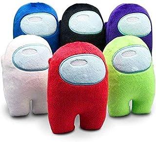 Astronaut Among Us Plush Doll Soft Pillow Stuffed Plush for Game Fans Crewmate (multi-color B, 6pcs 10cm)