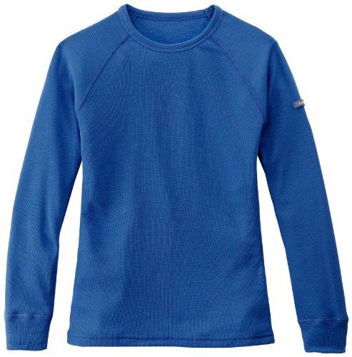 Odlo - Crew Neck Warm - T-shirt - manches longues - Enfant - Bleu (Blau (Olympian Blue)) - FR: 18 mois - 2 ans (Taille Fabricant: 80 cm)