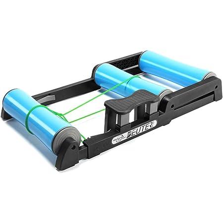 Entrenador rodillos bicicleta interior ajustable - Pedal antideslizante Fácil de transportar Silencioso poco ruido - para entrenamiento bicicleta de ...