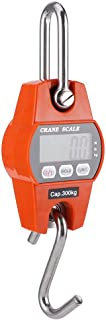 Báscula Colgante, Mini báscula Colgante portátil, Sensor preciso Pantalla LCD Digital Báscula Colgante, reinicio automático Básculas de pesaje eléctricas precisas 300 kg / 600 LB Naranja